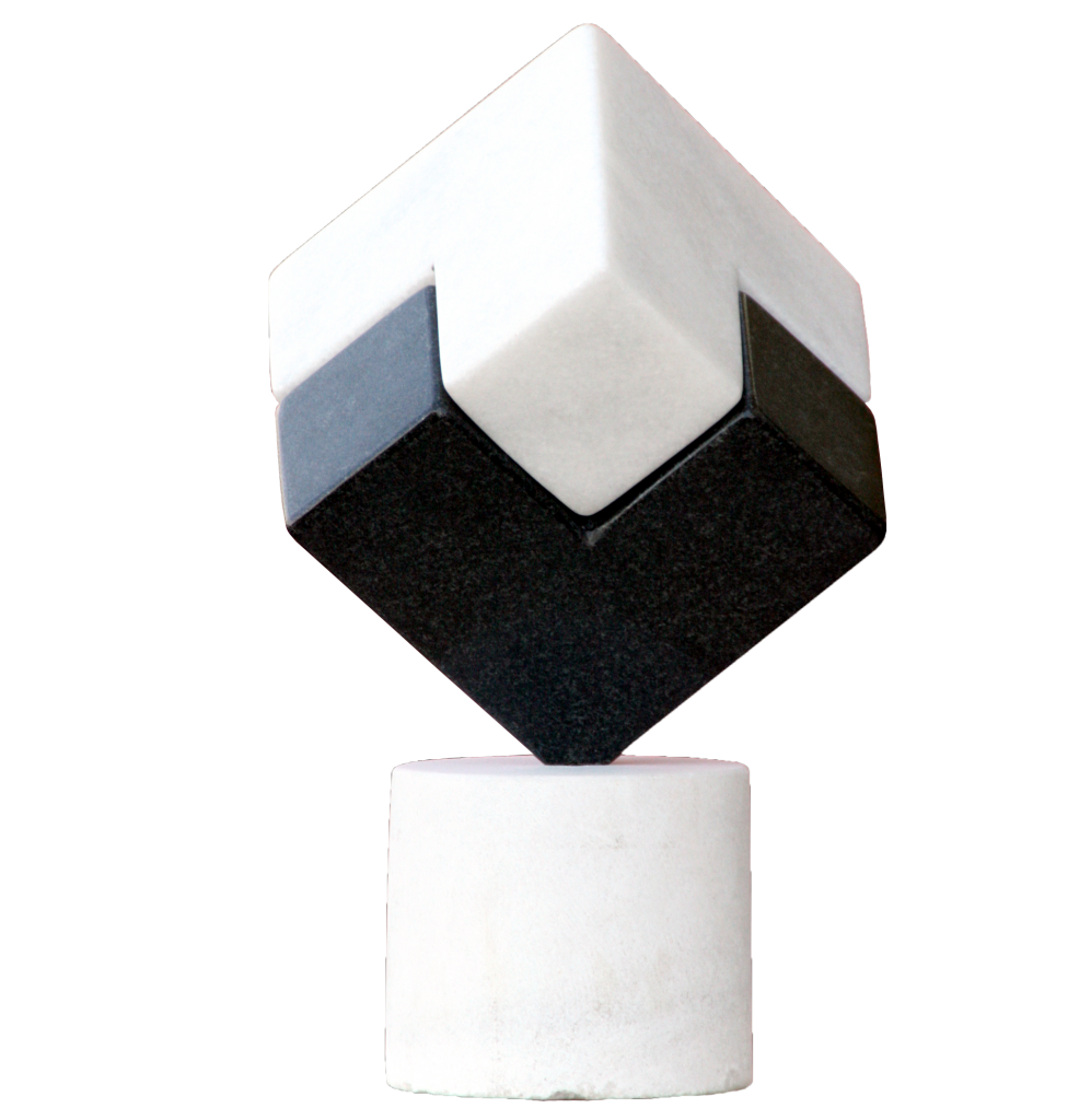 Chiaroscuro – marble and granite, 25cm/25cm/25cm, 2008
