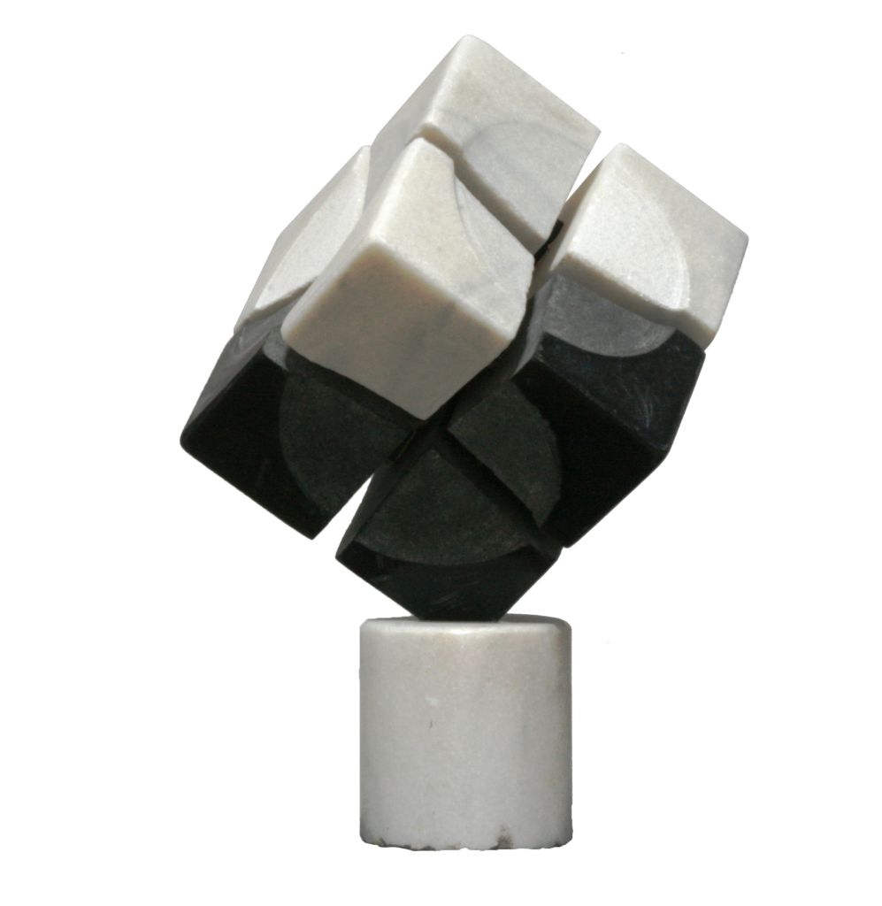 Implosion –  granite and marble.35 cm/35cm/35cm,  2011